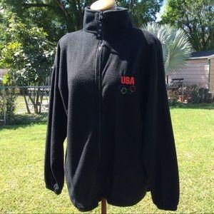 USA Olympic Team Fleece Sweater Size Lg